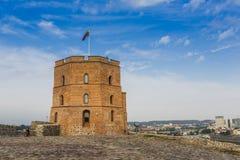 lithuania vilnius vilnius för sikt för stadsområde virsuliskes Vilnius torn av Gedimin Fotografering för Bildbyråer