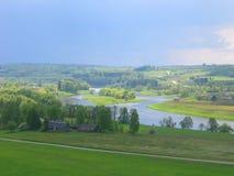 lithuanian ландшафта kernave Стоковое Фото