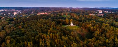 Lithuanian aerial landscape royalty free stock image