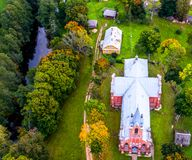 Lithuanian aerial view Royalty Free Stock Photos