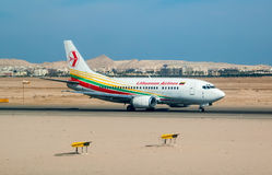 Lithuanian airplane in Hurghada airport. Egypt Royalty Free Stock Photography