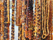 Lithuanian amber beads pattern stock images