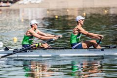 Free Lithuanian Athletes On A World Rowing Cup Competition Rowing Stock Image - 117963551