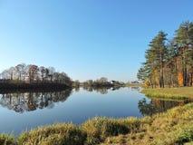 Lithuanian autumn landscape Stock Photos