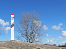 Lithuanian border Stock Photo