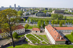 Lithuanian capital Vilnius panorama Royalty Free Stock Photography