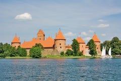 Lithuanian castle of Trakai Stock Photo