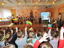 Lithuanian children celebrate Independence Day Stock Photography