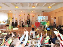 Lithuanian children celebrate Independence Day Stock Image