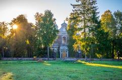 Lithuanian church. Beautiful Lithuanian church, Geguzine at dawn Stock Photo