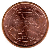 Lithuanian coin 1 cent Stock Images