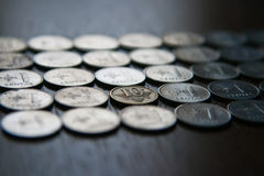 Lithuanian Coins Stock Photo