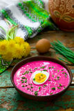 The Lithuanian cold  beetroot soup Stock Image