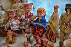 Lithuanian doll. The girl in the Lithuanian suit.Historical clothes Stock Image