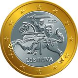 Lithuanian euro gold money coin Stock Photo