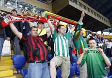 Lithuanian fans Stock Photography