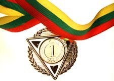 Lithuanian first place medal Stock Image