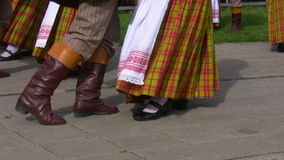 Lithuanian folk dancers Royalty Free Stock Photography