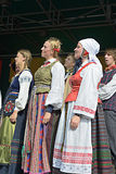Lithuanian Folk music group Poringe Stock Photography