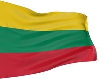 lithuanian för flagga 3d Royaltyfri Bild