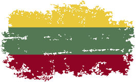 Lithuanian grunge flag. Vector illustration. Stock Photo