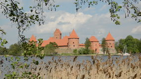 Lithuanian historical  medieval kings castle Trakai. History museum stock video