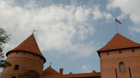 Lithuanian historical  medieval kings castle Trakai stock video