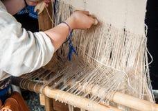 Lithuanian homespun weaving Royalty Free Stock Images