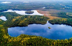 Lithuanian lakes from above royalty free stock image