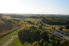 Lithuanian Landscape. Lithuanian Summer Landscape With Cars Stock Photography