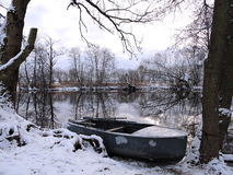 Lithuanian landscape in winter Stock Image