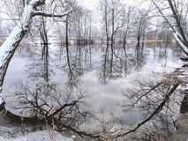 Lithuanian landscape in winter Royalty Free Stock Photo