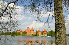 Lithuanian medieval castle Trakai in spring Stock Photos