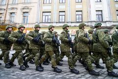 Lithuanian NATO soldiers. The North Atlantic Treaty Organization, also called the North Atlantic Alliance, is an intergovernmental military alliance between 29 royalty free stock photo