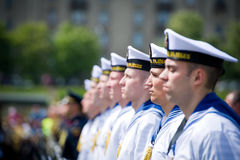 The Lithuanian Navy Soldiers Stock Images