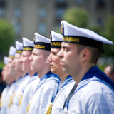 The Lithuanian Navy Soldiers Royalty Free Stock Image
