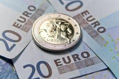 Lithuanian new euro money Stock Photos