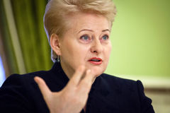 Lithuanian President Dalia Grybauskaite Stock Photography