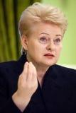 Lithuanian President Dalia Grybauskaite Royalty Free Stock Photos