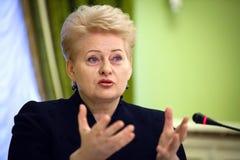 Lithuanian President Dalia Grybauskaite Stock Photo