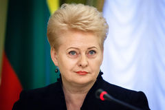Lithuanian President Dalia Grybauskaite Royalty Free Stock Photo