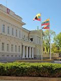 Lithuanian president palace in Vilnius Royalty Free Stock Photography
