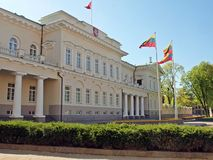 Lithuanian president palace in Vilnius Stock Photos