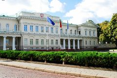Lithuanian president residence on September 24, 2014. Vilnius, Lithuania stock image