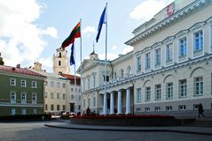 Lithuanian president residence on September 24, 2014. Vilnius, Lithuania stock photo