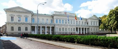 Lithuanian president residence on September 24, 2014 Royalty Free Stock Images