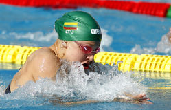 Lithuanian swimmer Ruta Meilutyte Royalty Free Stock Photography