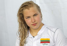Lithuanian swimmer Ruta Meilutyte Royalty Free Stock Image