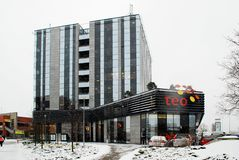 Lithuanian telecomunications operator TEO office in Vilnius city Stock Photography