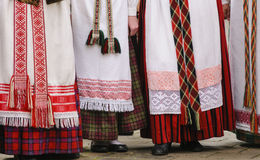Lithuanian traditional dresses Royalty Free Stock Photography